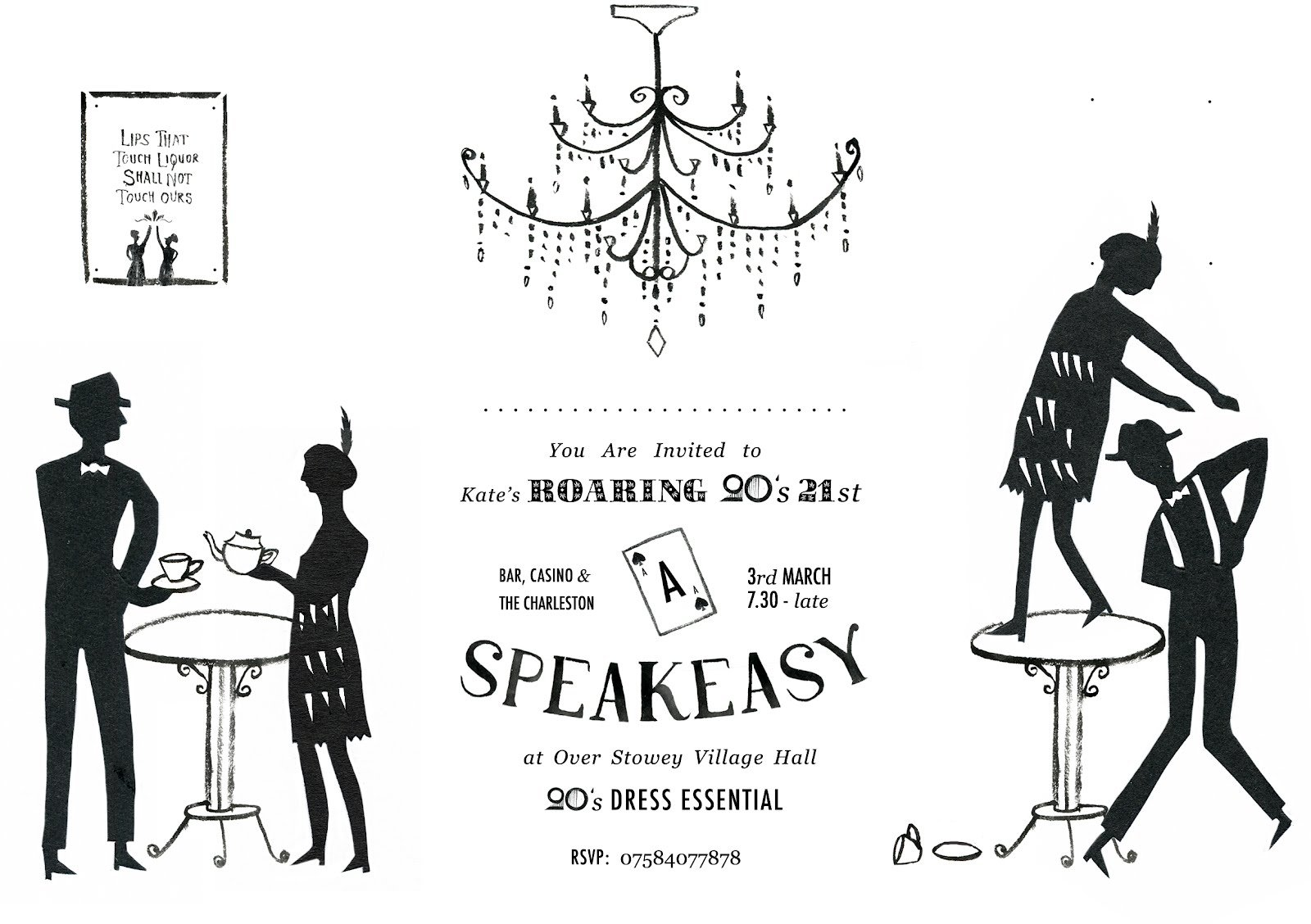 Roaring 20s Party Invitations Printable