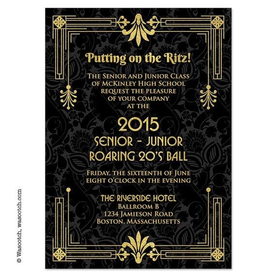 Roaring 20s Prom Invitations