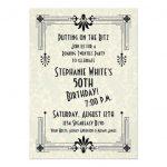 Roaring Twenties Birthday Party Invitations