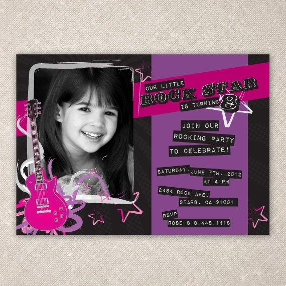 Rock star invitation wording rock star birthday invitation wording 570 x 570 stopboris Images