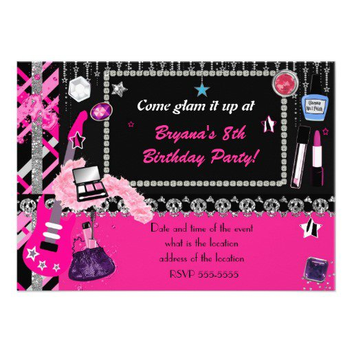 Rock Star Invitations Printable