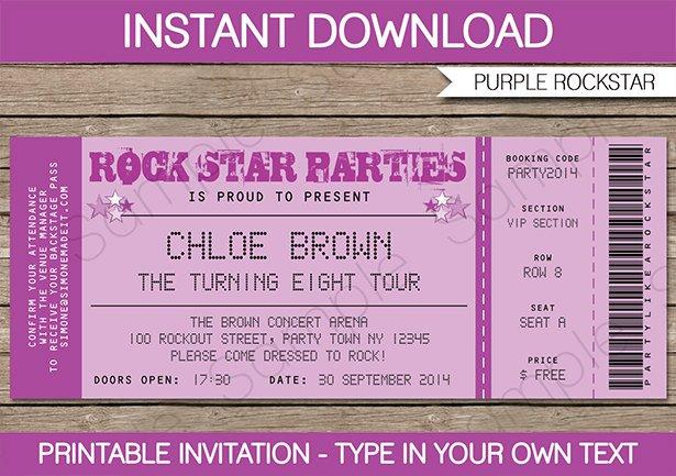 Rock star invitation wording stopboris Image collections