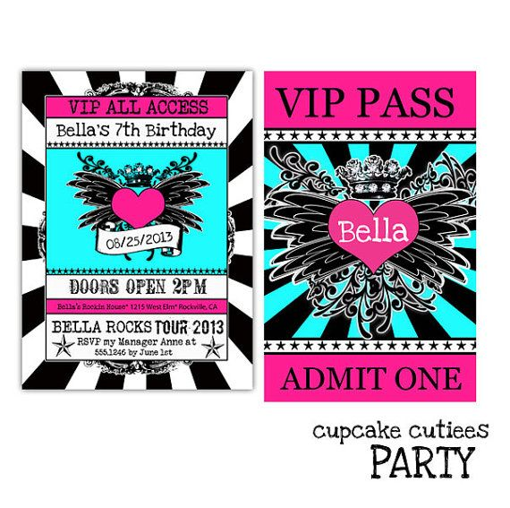 Rockstar Vip Pass Invitations