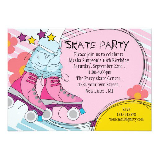 Roller Party Invitation