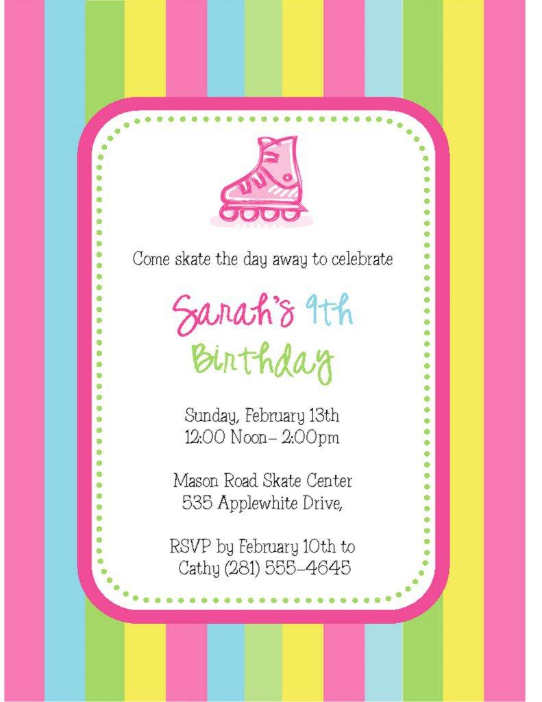 skating party invitations templates, Party invitations