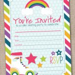 Roller Skating Party Invitations Blank