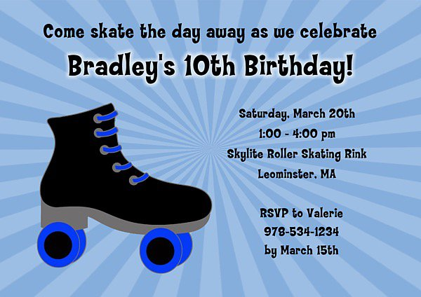 Rolling Skating Invitations