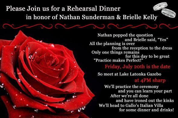 Romantic Invitation Wording For Dinner