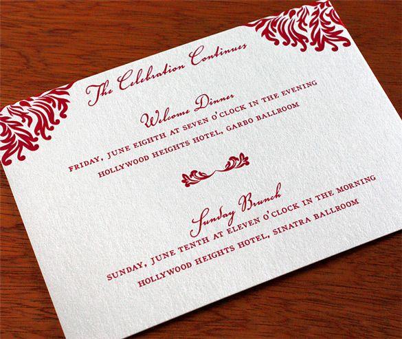 Romantic Weekend Invitation