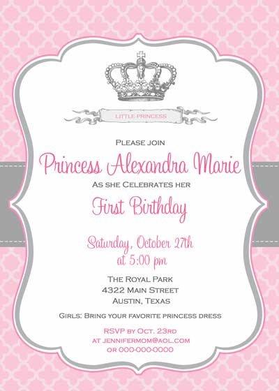 Royal Birthday Invitation Wording