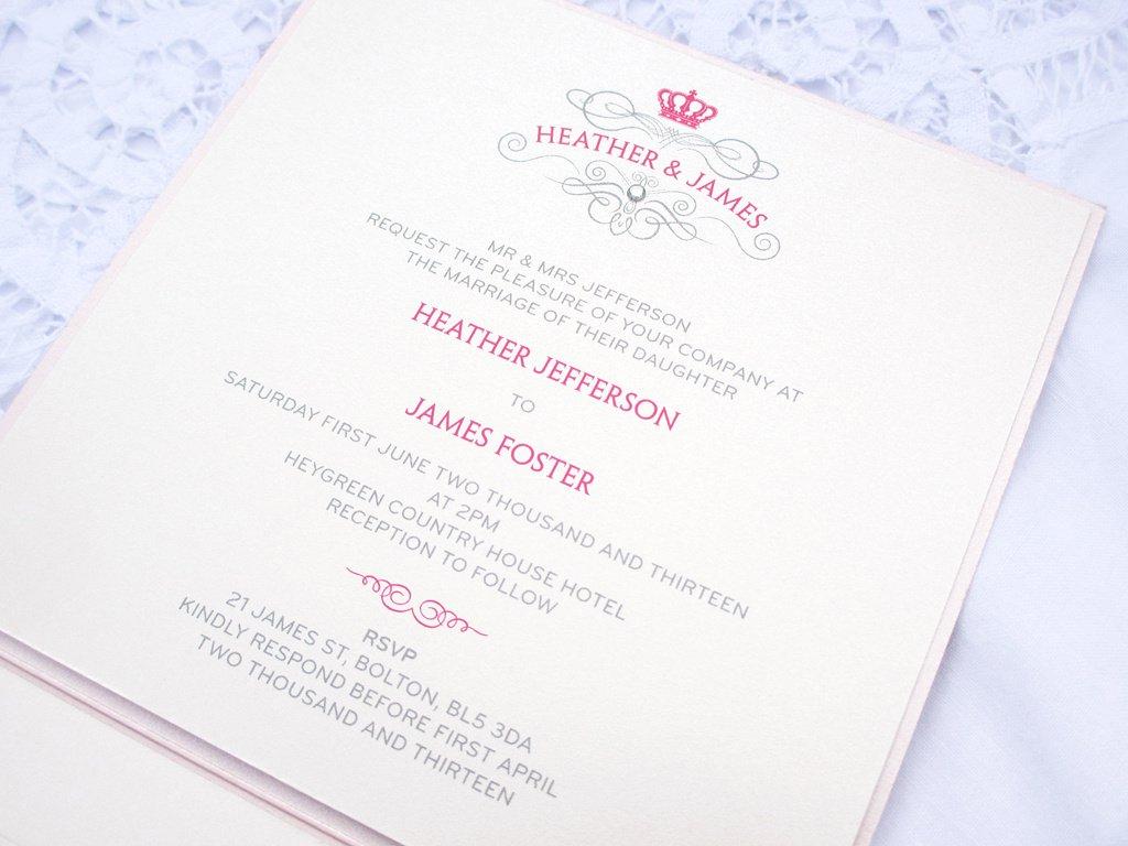 Royal Invitation Sample