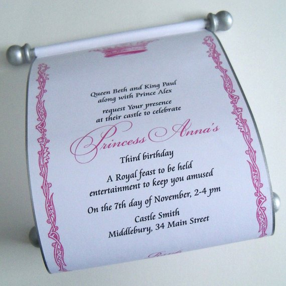 Royal Princess Birthday Invitation Wording