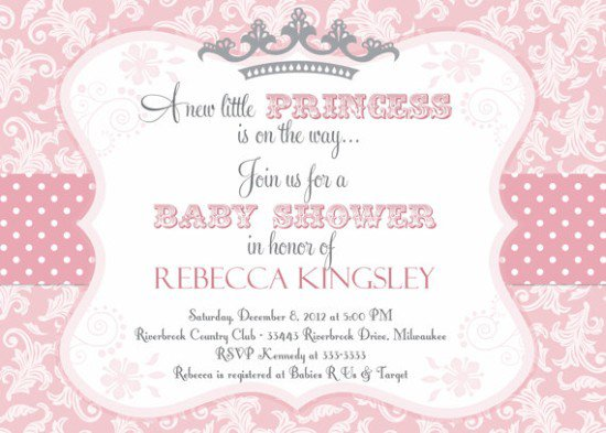 Royal Princess Invitation Templates