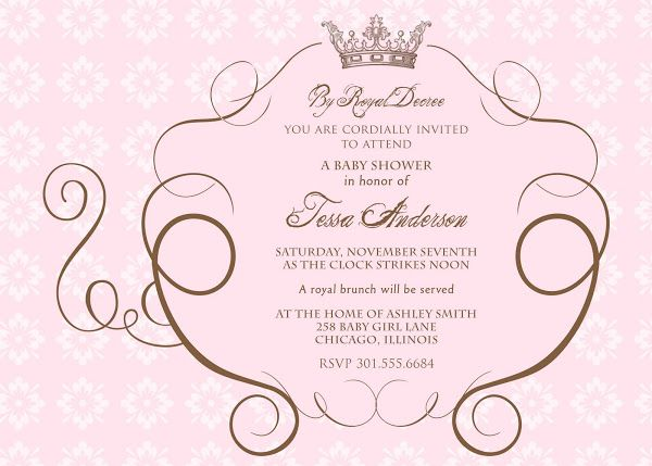 Royal Princess Invitation Templates Blank