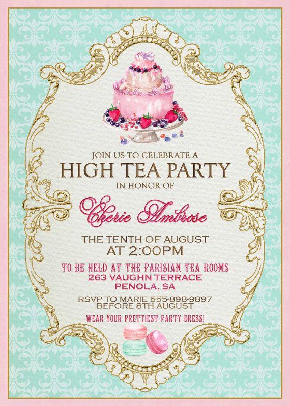 royal party invitation wording