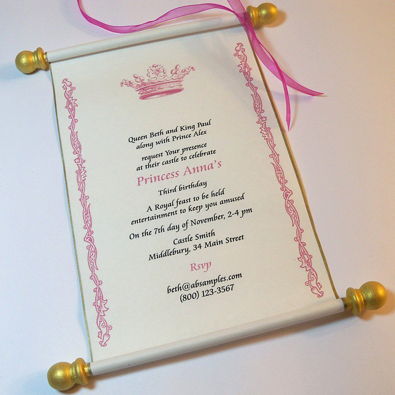 Royal Wedding Invitation Sample