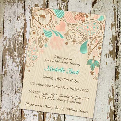 Rustic Bridal Shower Invitations Cheap