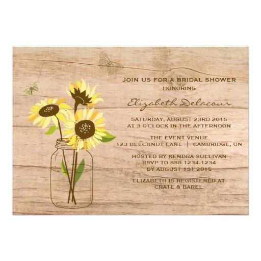 Rustic Bridal Shower Invitations Templates