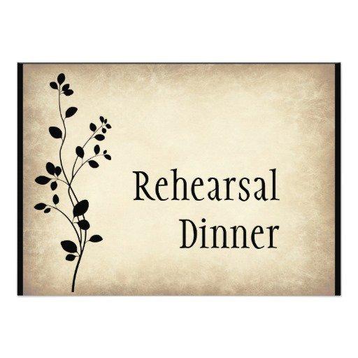 Rustic Chic Rehearsal Dinner Invitations