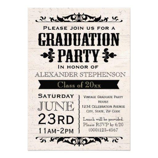 Rustic Graduation Party Invitations