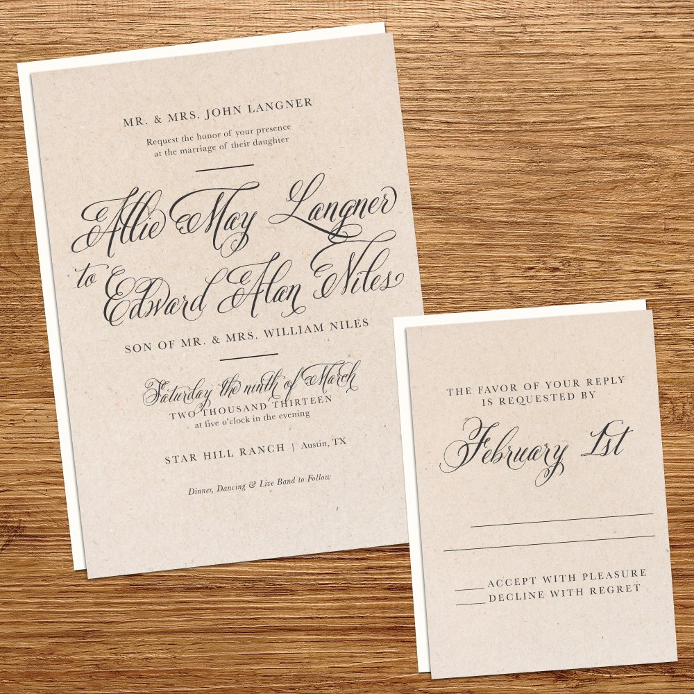 Rustic Vintage Wedding Invitations Diy
