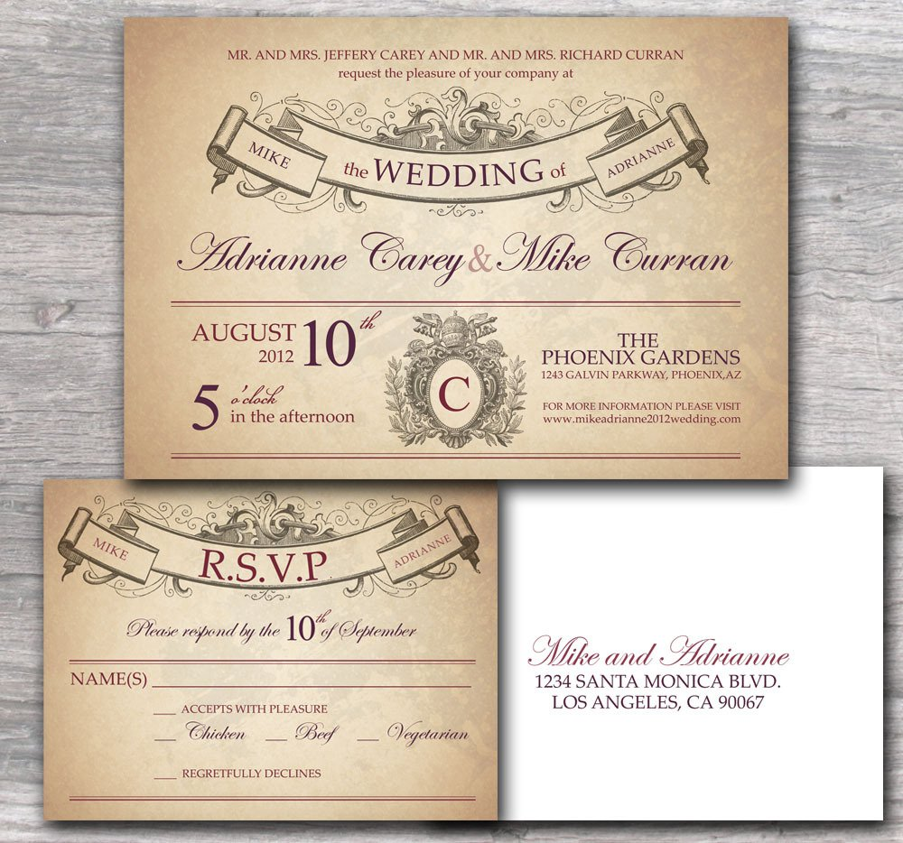 Rustic Wedding Invitation Wording Samples
