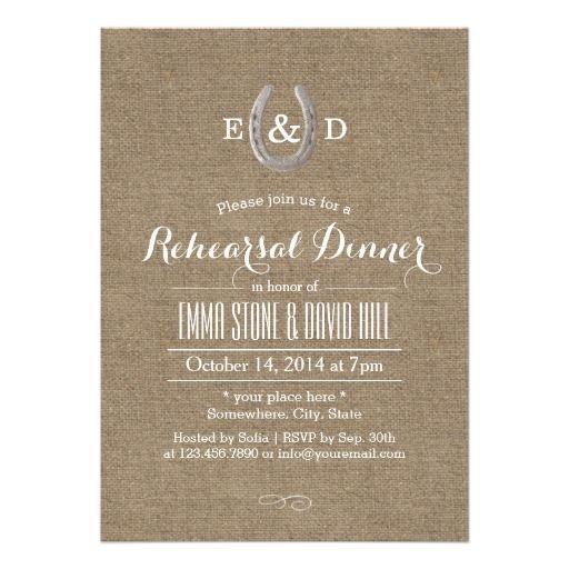 Rustic Wedding Rehearsal Dinner Invitations