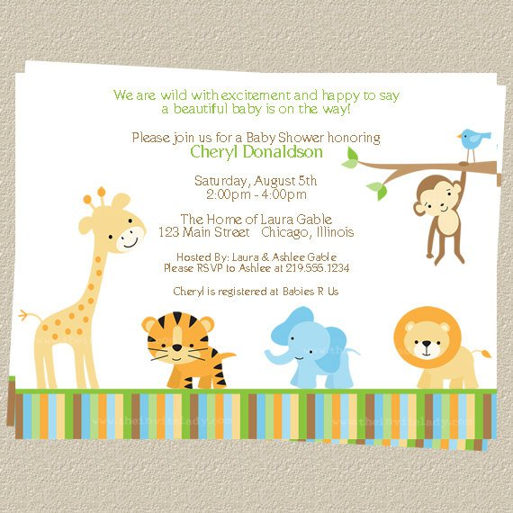 Safari Baby Shower Invitation Templates Free