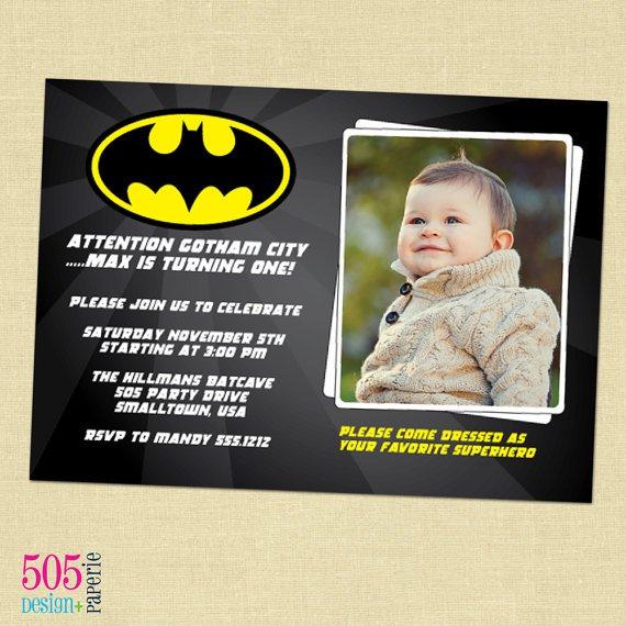 Sample Batman Birthday Invitation