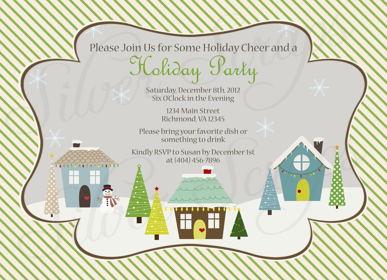 Sample Christmas Potluck Invitations