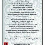 Sample Invitation To Pastors Anniversary