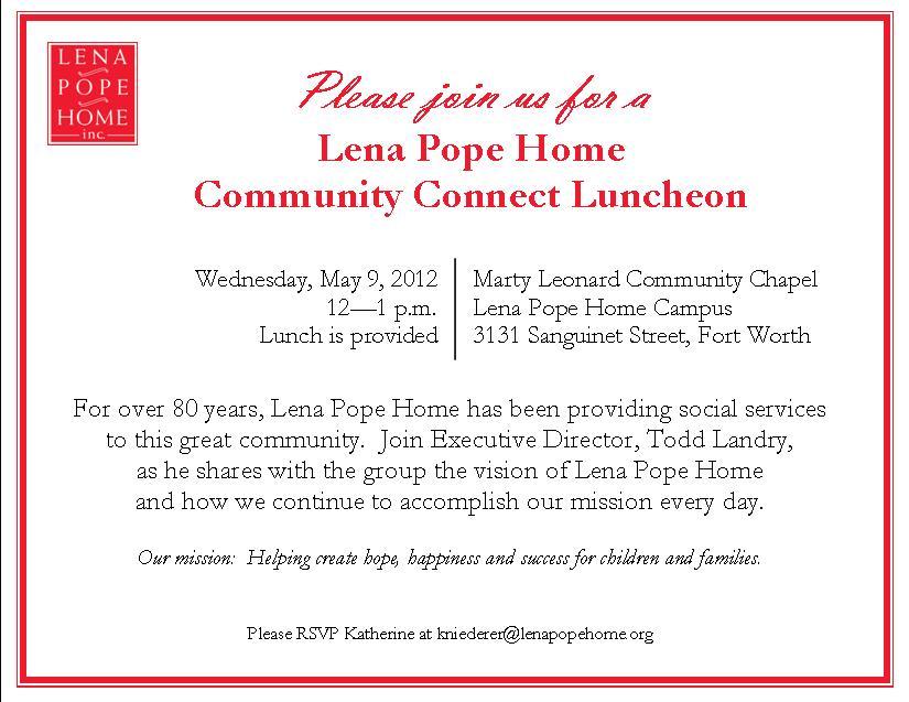 Sample Luncheon Invitation Template