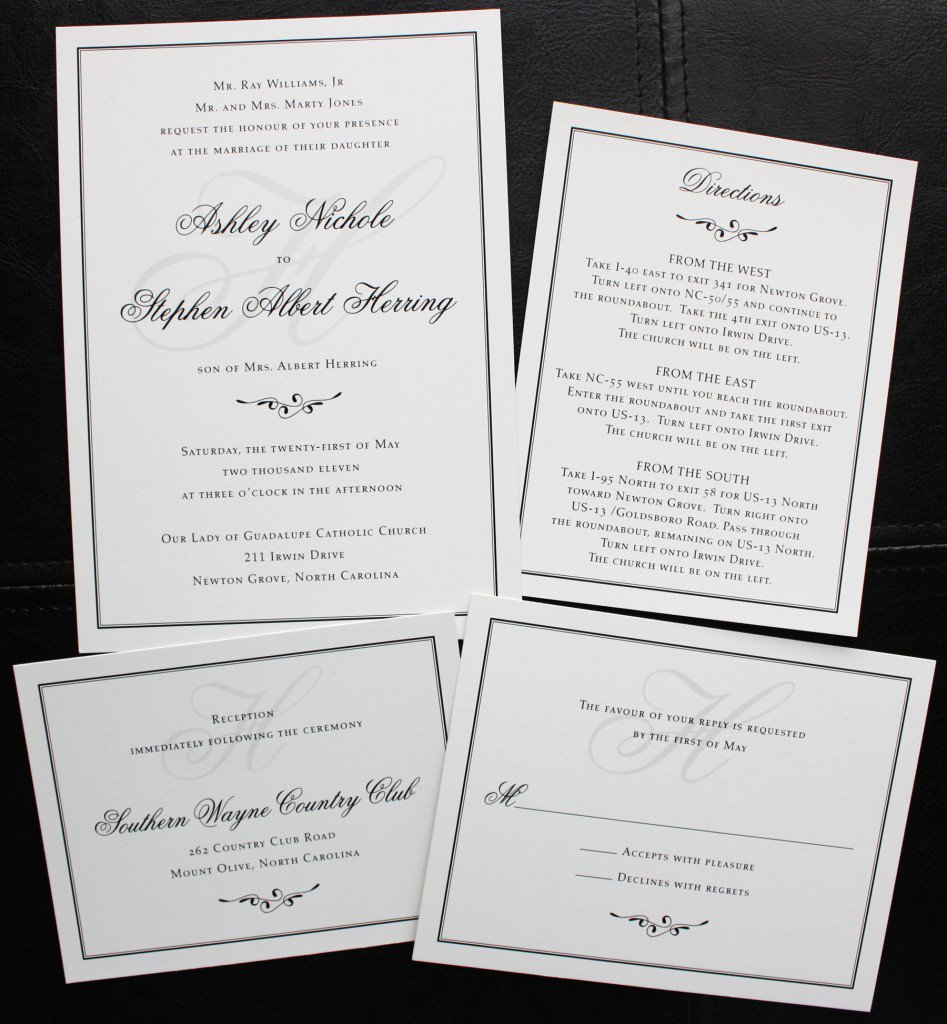 Sample Of Simple Wedding Invitation Cards