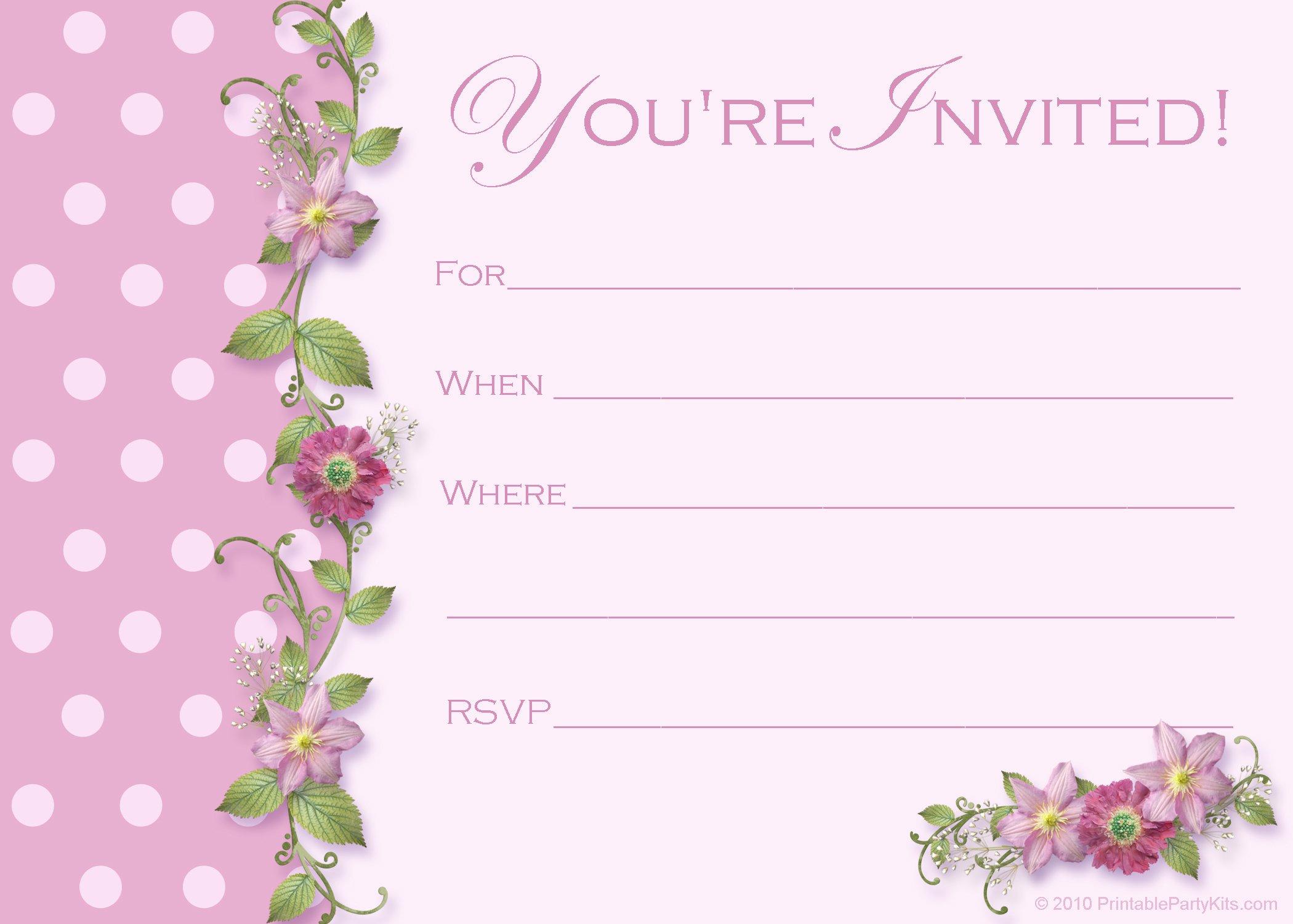 Sample Party Invitation Templates Free