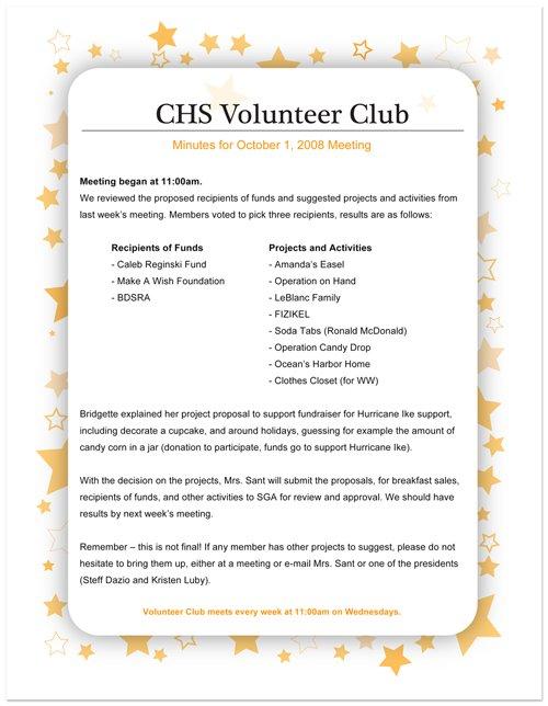 Sample Volunteer Invitations
