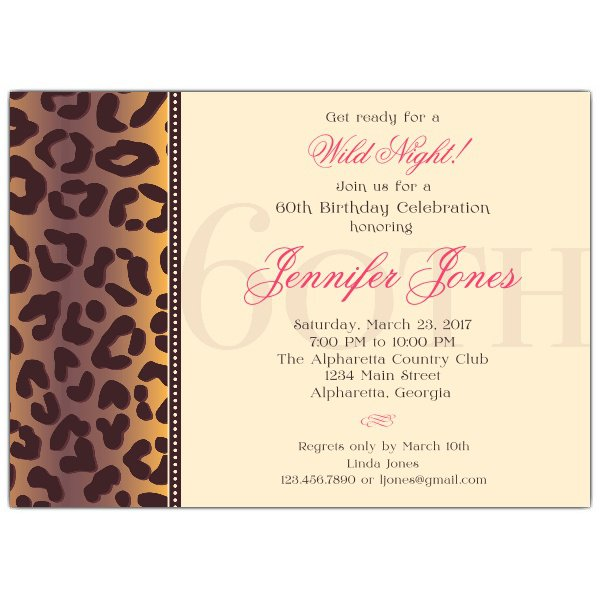 Samples Of 60th Birthday Invitation Cards