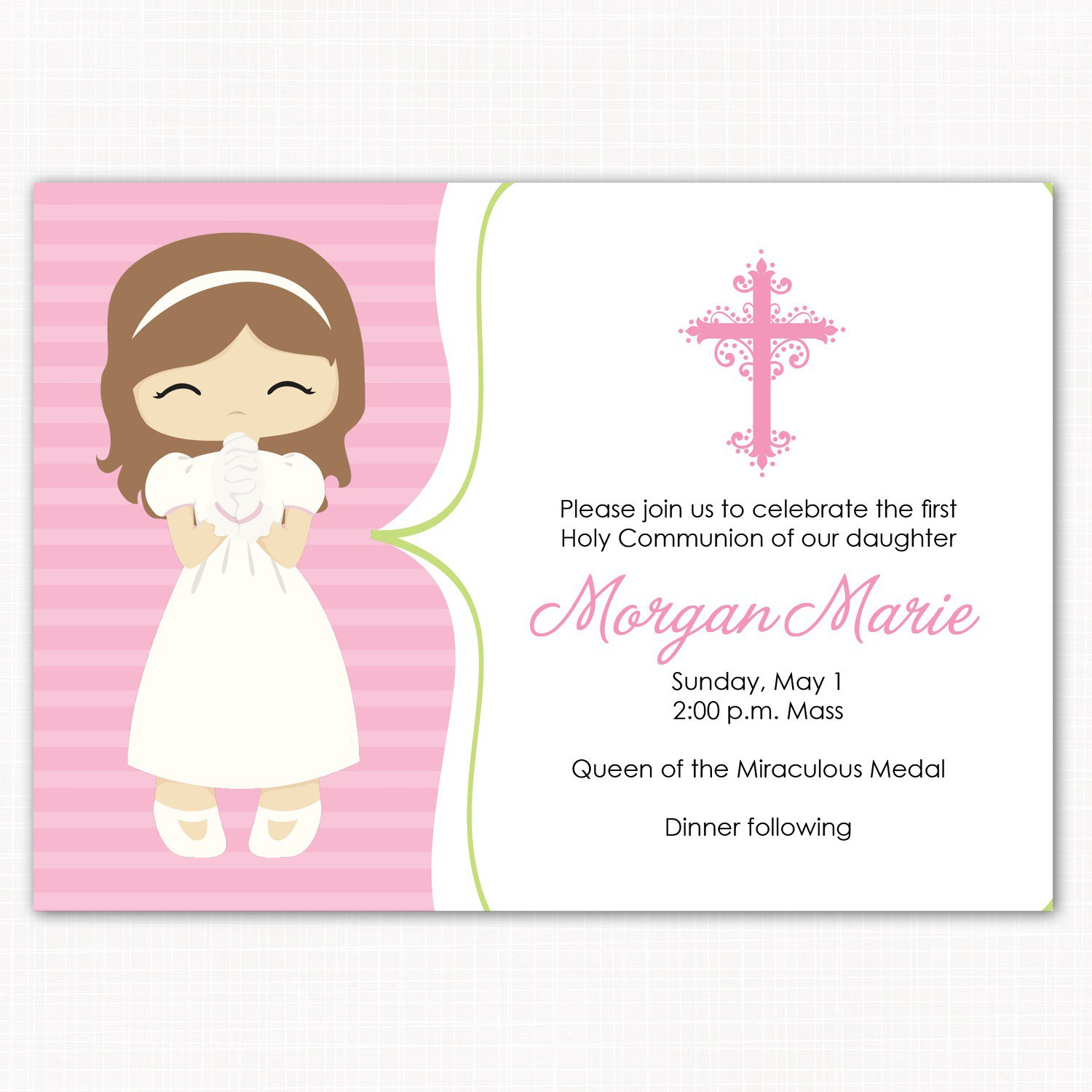 Samples Of First Communion Invitations In Spanish