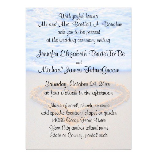 Sand Wedding Invitations