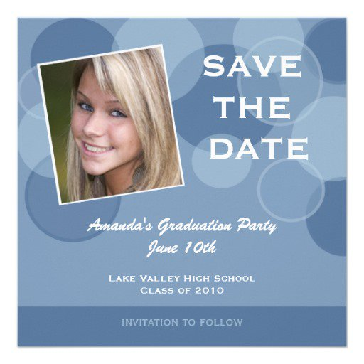 Save The Date Graduation Announcements