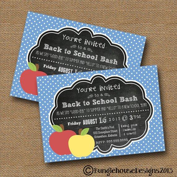 School Open House Invitation Printable