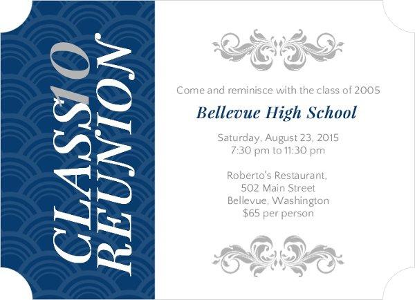 School Reunion Invitation Wording Samples