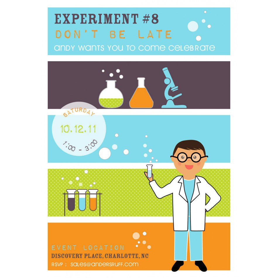 Science Party Invitations Template