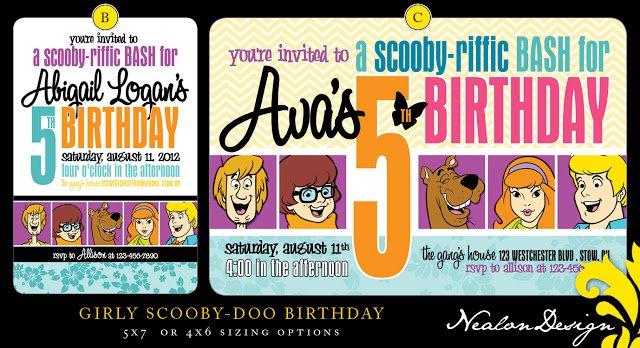 Scooby Doo Birthday Party Invitation Templates