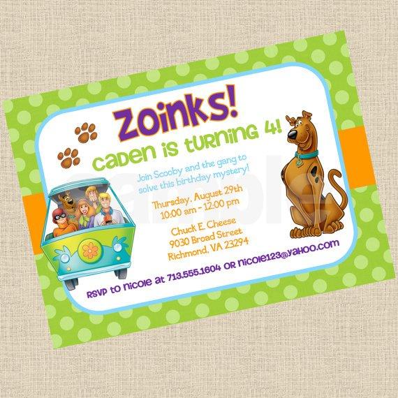 Scooby Doo Invitations Printable