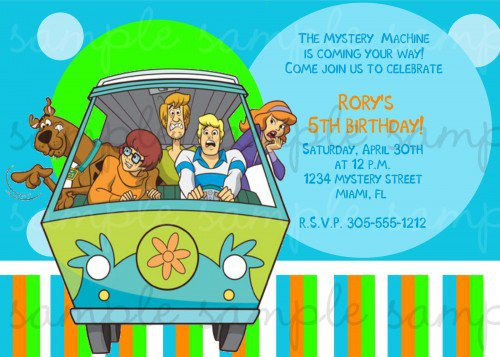 Scooby Doo Party Invitations