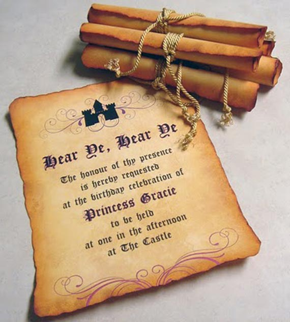 Scroll Wedding Invitation Ideas