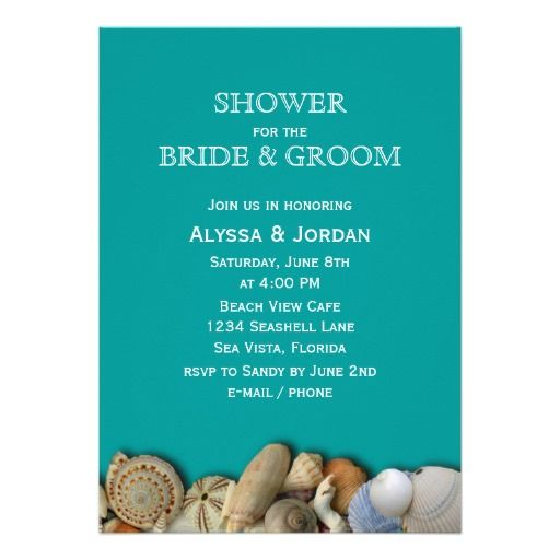 Seashell Wedding Invitations Cheap