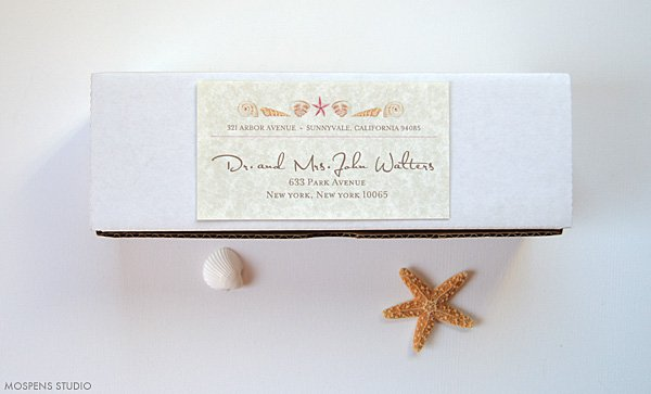 Seashell Wedding Invitations Kit