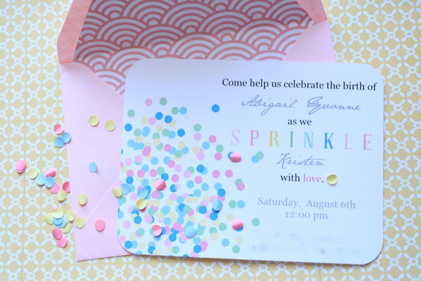 Second Baby Shower Invitation Wording Sprinkle