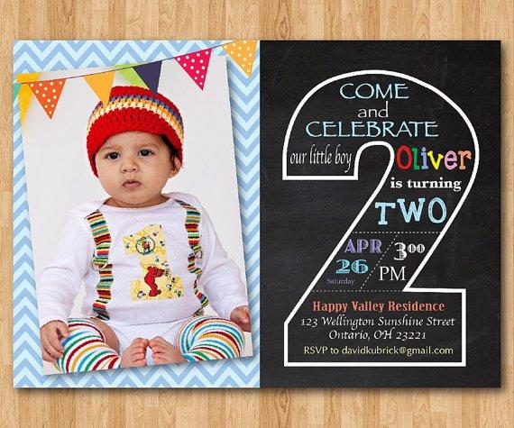 Second Birthday Invitation Wording